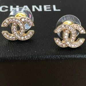 Authentic Chanel Rhinestone Earrings